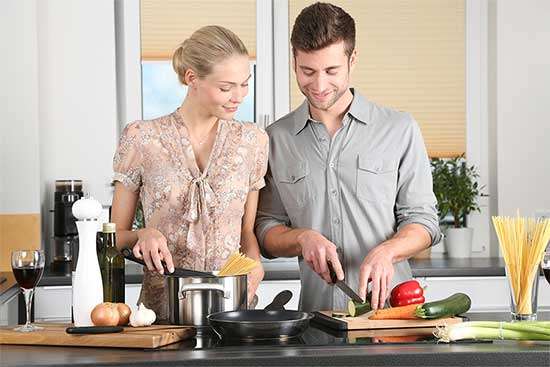 home cooking couple