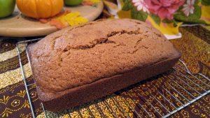 close up of Trader Joe's pumpkin bread