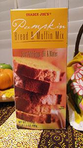 Trader Joe's Pumpkin Bread and Muffin Mix packaging