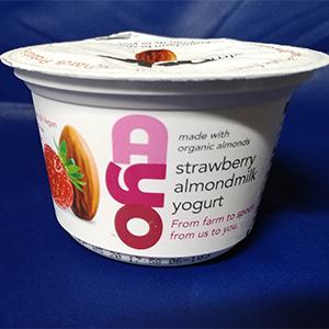 AYO strawberry almondmilk yogurt