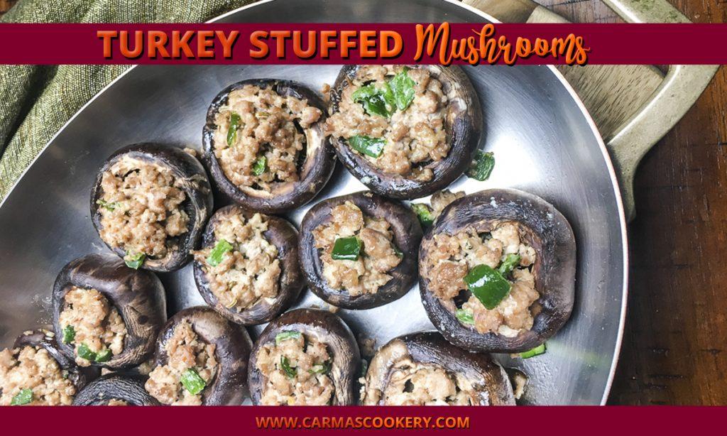 Turkey Stuffed Mushrooms