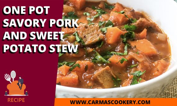One Pot Savory Pork and Sweet Potato Stew