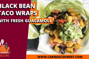 Black Bean Taco Wraps with Fresh Guacamole